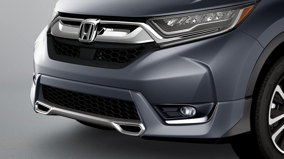 2019 Honda CR-V shown with Honda Genuine Accessory front sport bumper.