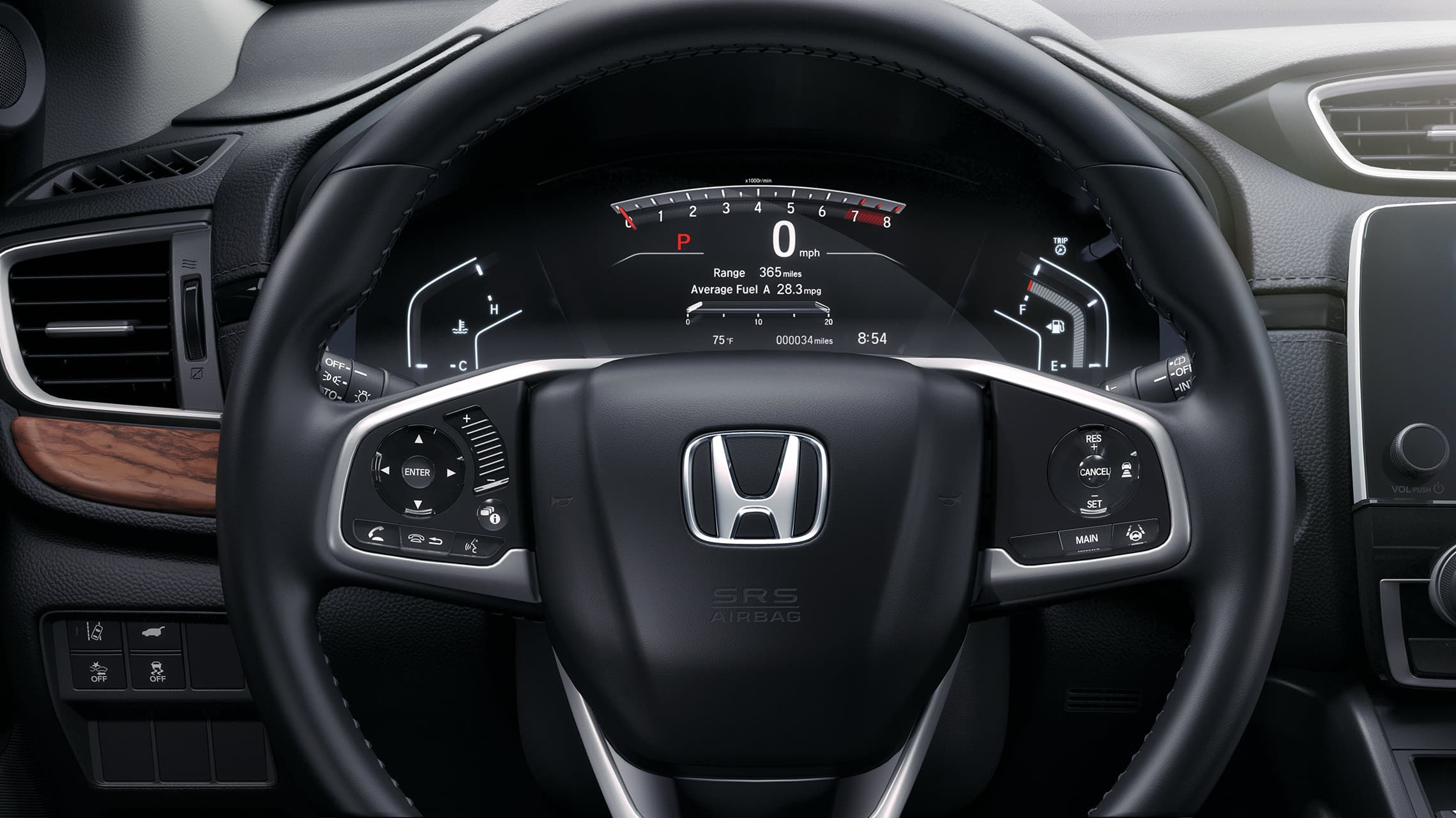 2019 Honda CR-V Touring instrument panel.