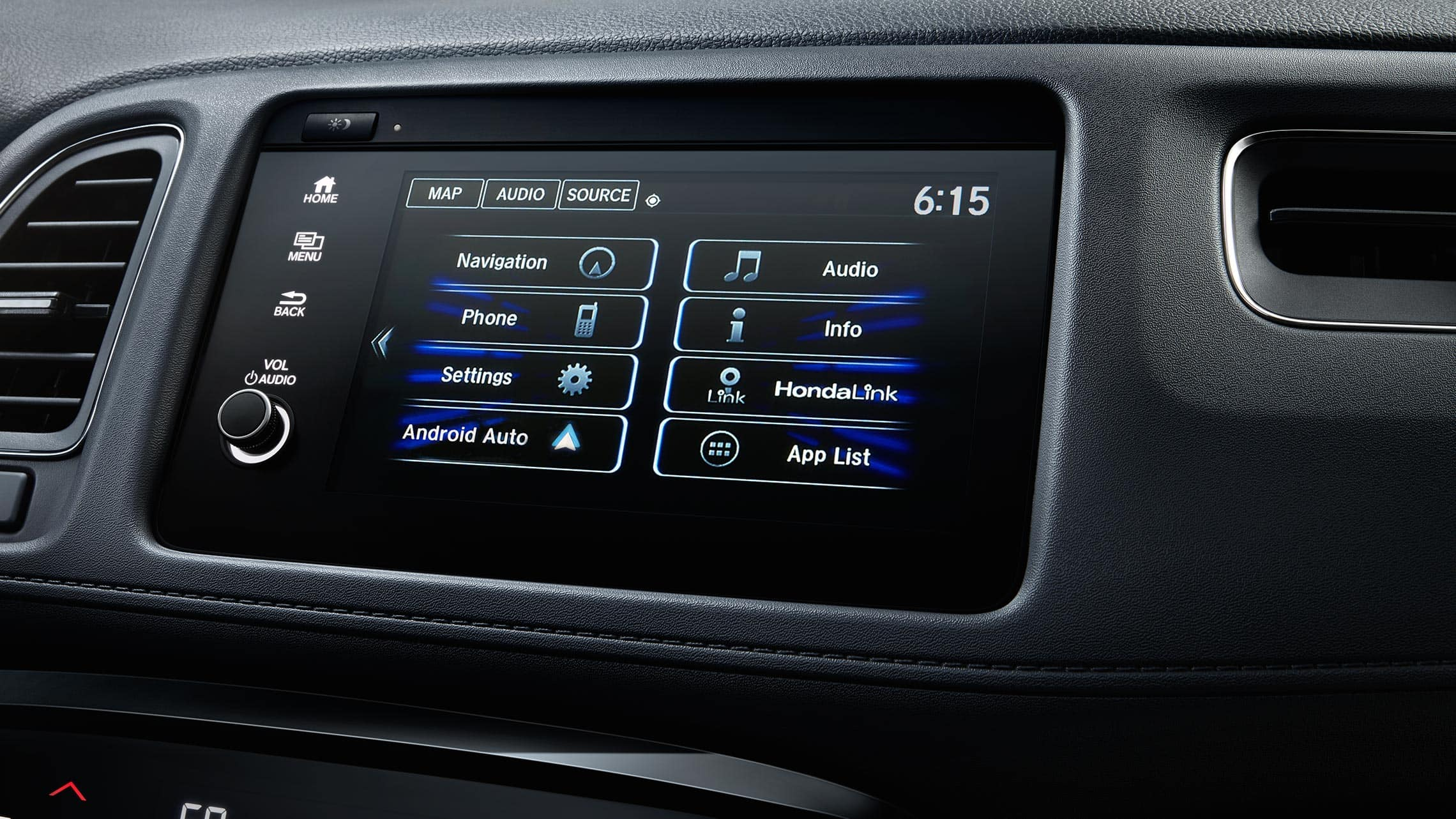 Android Auto™ detail on Display-Audio touchscreen in the 2019 Honda HR-V Touring.