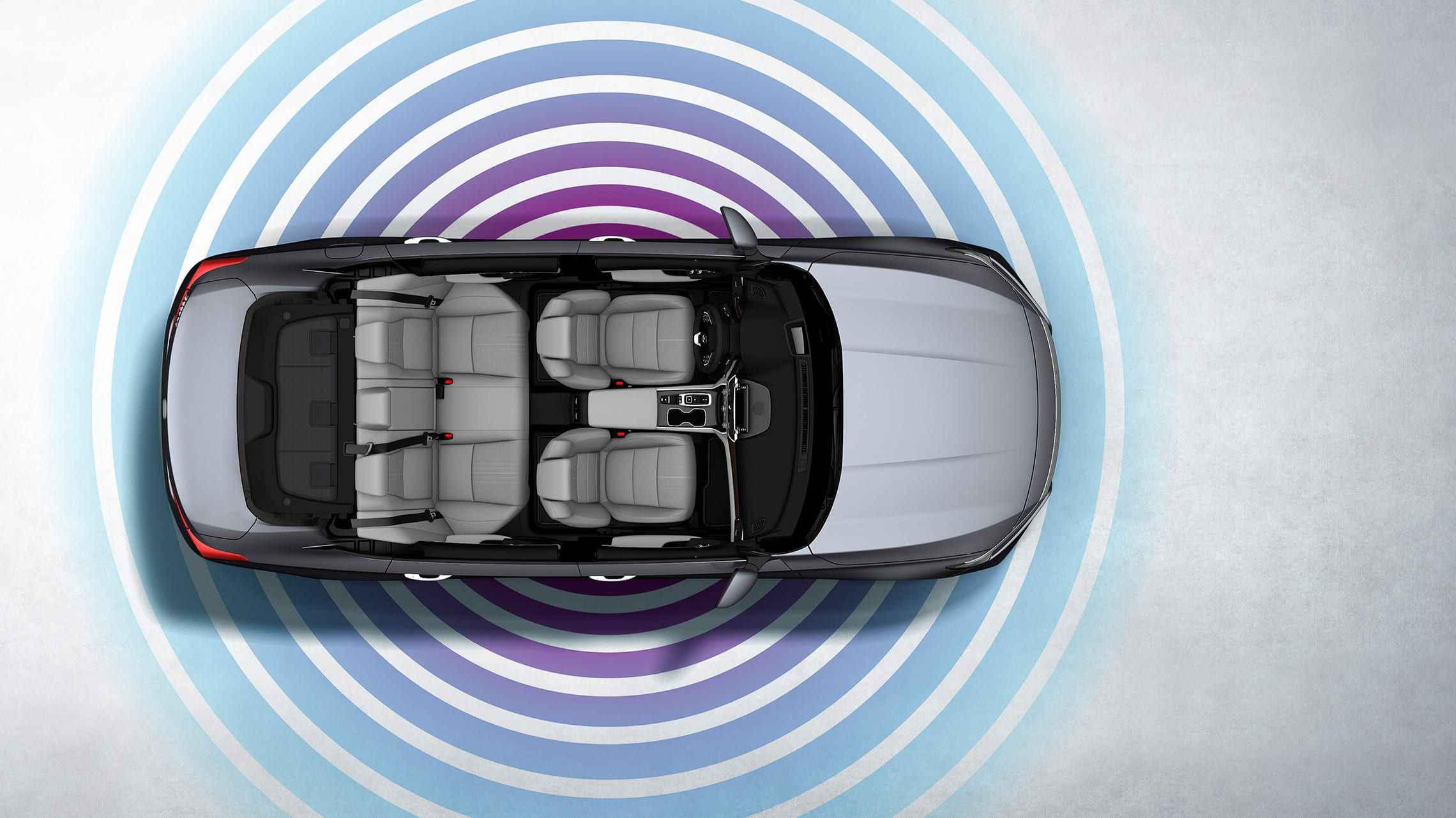 Overhead interior view of the 2020 Honda Accord with illustrated Wi-Fi signal waves.
